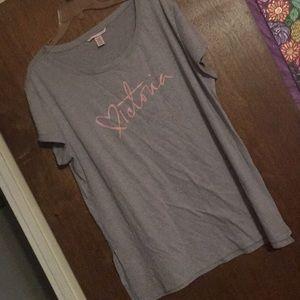 Victoria's Secret XL Gray Sleep Shirt w Logo